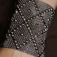 Diamond Mesh Cuff, large