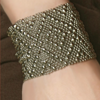 Double Diamond Mesh Cuff
