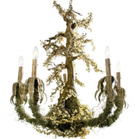 French Bonsai Chandelier