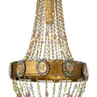 French Intaglio Chandelier