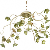 Fresh Green Chandelier
