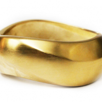 Gold Wedge Cuff
