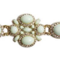 Light Mint Cabochon Bracelet