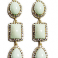 Light Mint Cabochon Earrings