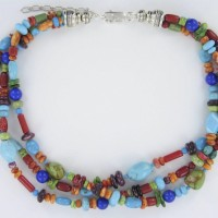 Multi-Stone Color Necklace
