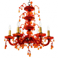 Orange Droplet Chandelier