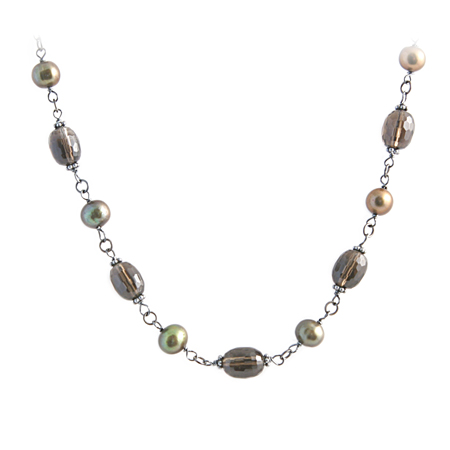 Pearl & Topaz Necklace