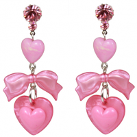 Pearlescent Heart Earrings