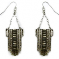 Silver Flapper Earrings