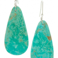 Sky's Eye Turquoise Earrings