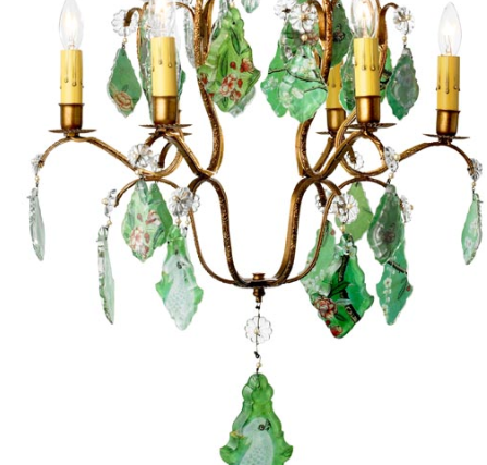 Tropical Bird Chandelier, detail