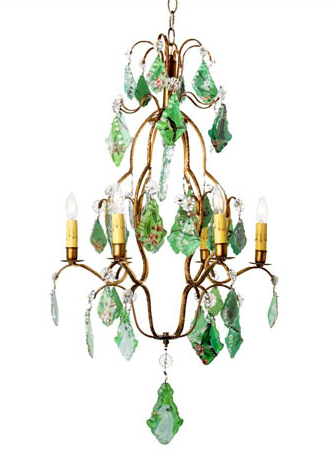 Tropical Bird Chandelier