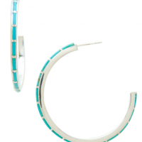 Turquoise C Curve Hoops