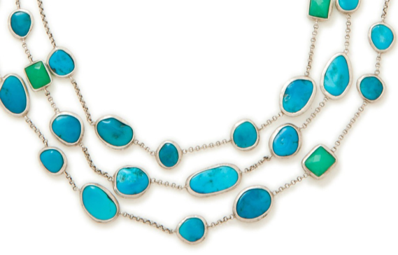 Turquoise Constellation Necklace, close