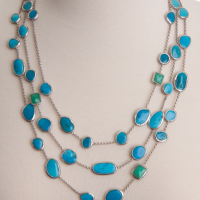 Turquoise Constellation Necklace, detail