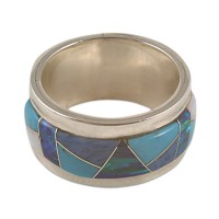 Turquoise Opal Band Ring