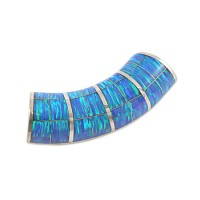 Unforgettable Blue Opal Slide Pendant