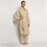 All-Natural Print Robe