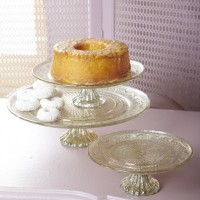 Antiqued Silver Cake Plates
