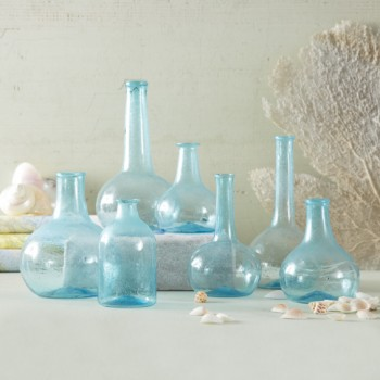 Aquamarine Bottle Vases
