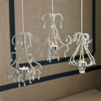 Beaded Chandelier Tealight Candle Holders