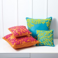 Beaded Coral Pillows