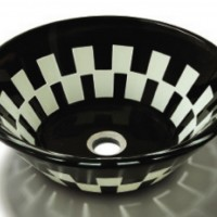 Black Checkered Sink Basin