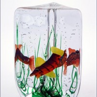 Blown Glass Aquarium Vase