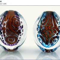 Blown Glass Egg Vases