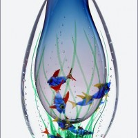 Blown Glass Fishy Vase