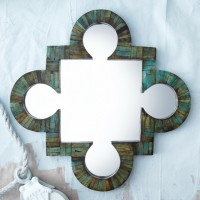 Bone Verdigris Wall Mirror