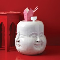 Buddha Head Side Table