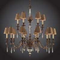 Burnt Gold Leaf Chandelier
