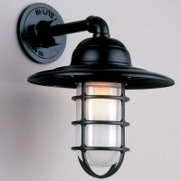 Caged Exterior Wall Light