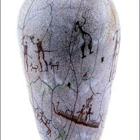 Cave Painting Vase