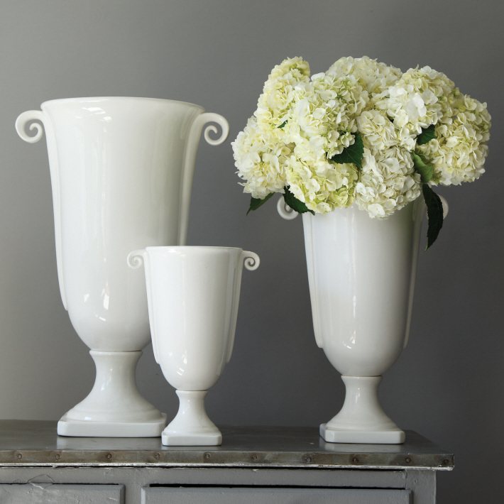 Classical White Urn Vases Cottage Industry