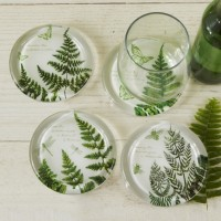 Fern Coaster Candle Holders