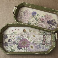 Floral Motif Trays