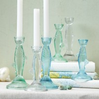 Glass Fish Candlesticks