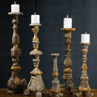 Gold Accent Renaissance Candlesticks