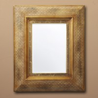 Gold Cutout Mirror