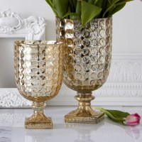 Gold Glass Vase & Candle Holder