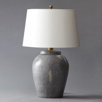 Gray Shagreen Lamp