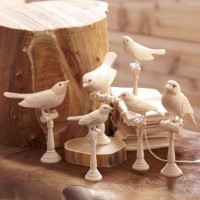 Hand-Carved Wood Birds