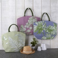 Meadow Blossoms Jute Bags