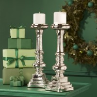 Mercury Glass Candlestick