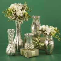 Mercury Glass Flower Vases