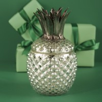 Mercury Glass Pineapple Candle Holder