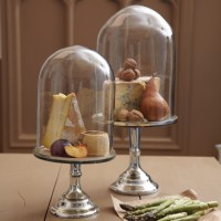 Mirror Display Plate & Glass Dome