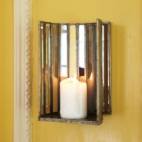 Mirrored Alcove Candle Sconce